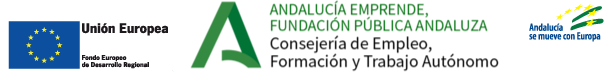 franja logos feder y andalucia emprende